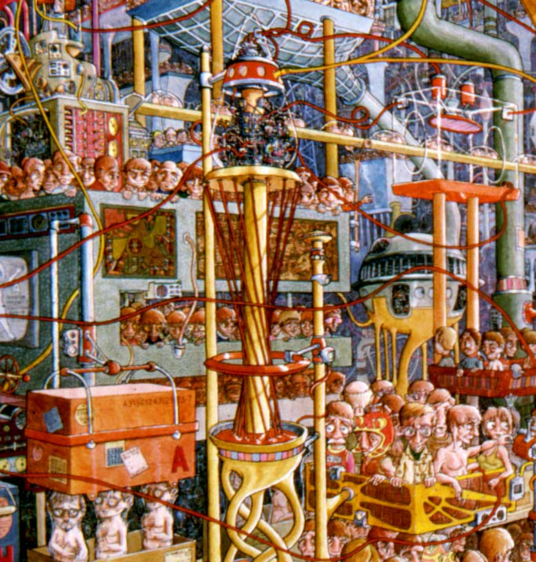 "Detail 1 of ""The People Factory"" by Ernest Ruckle"